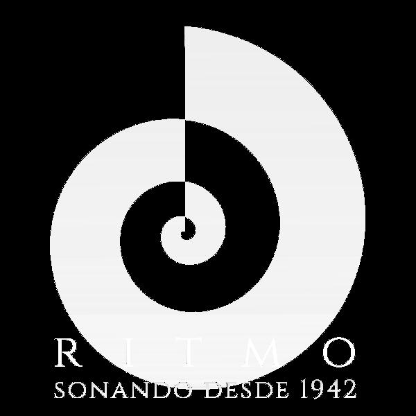 Instrumentos musicales ritmo music logotipo blanco